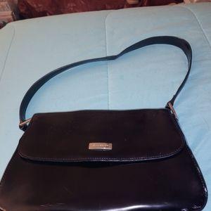 Vintage black patent leather Liz Claiborn purse